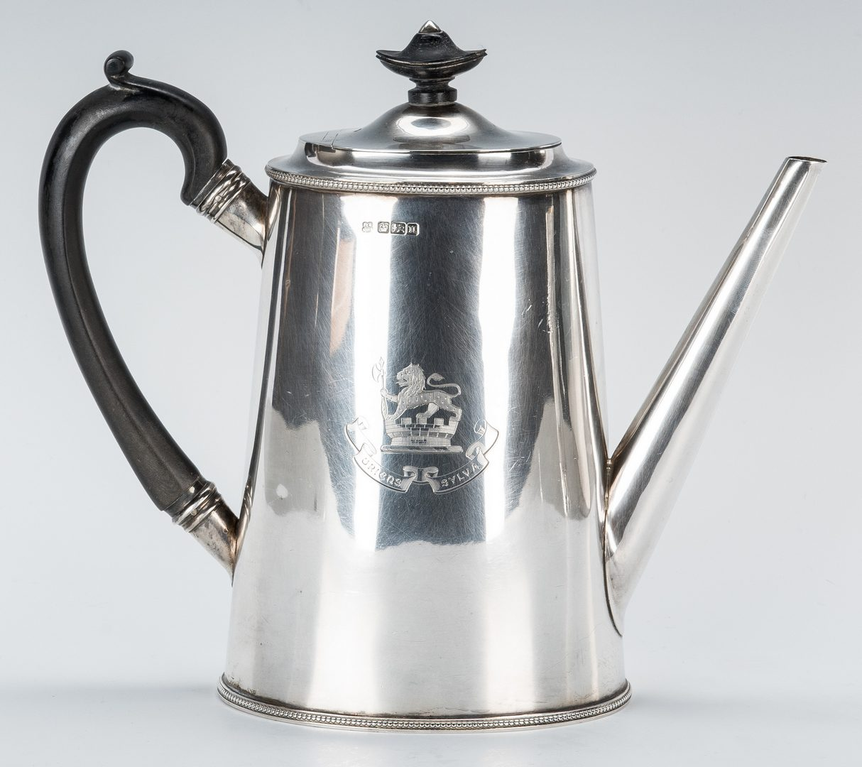 Lot 660: English Flask, Coffee Pot & Trophy Cup