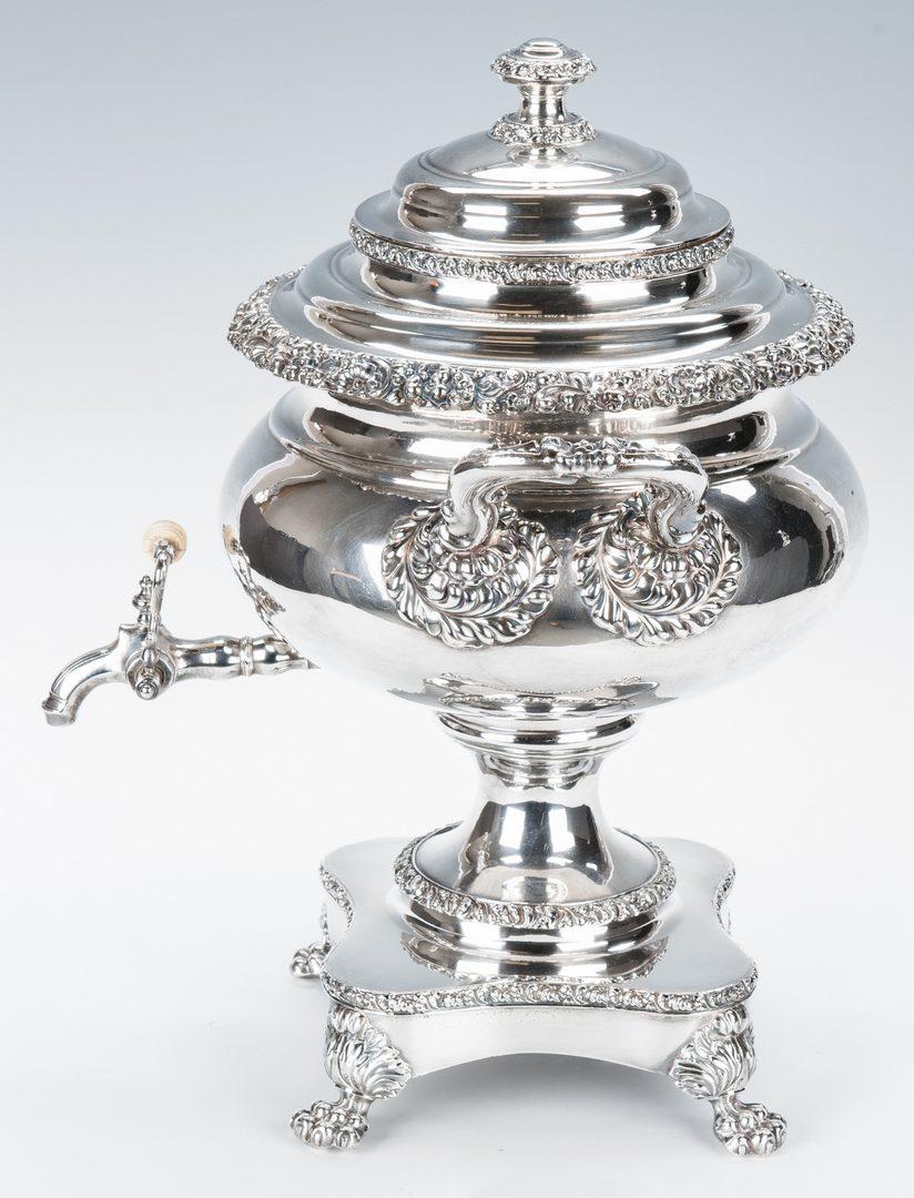 Lot 661: Matthew Boulton Hot Water Urn