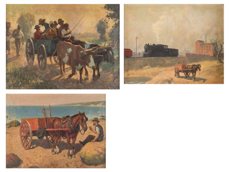 Lot 668: 3 W. B. Bridge O/C Paintings