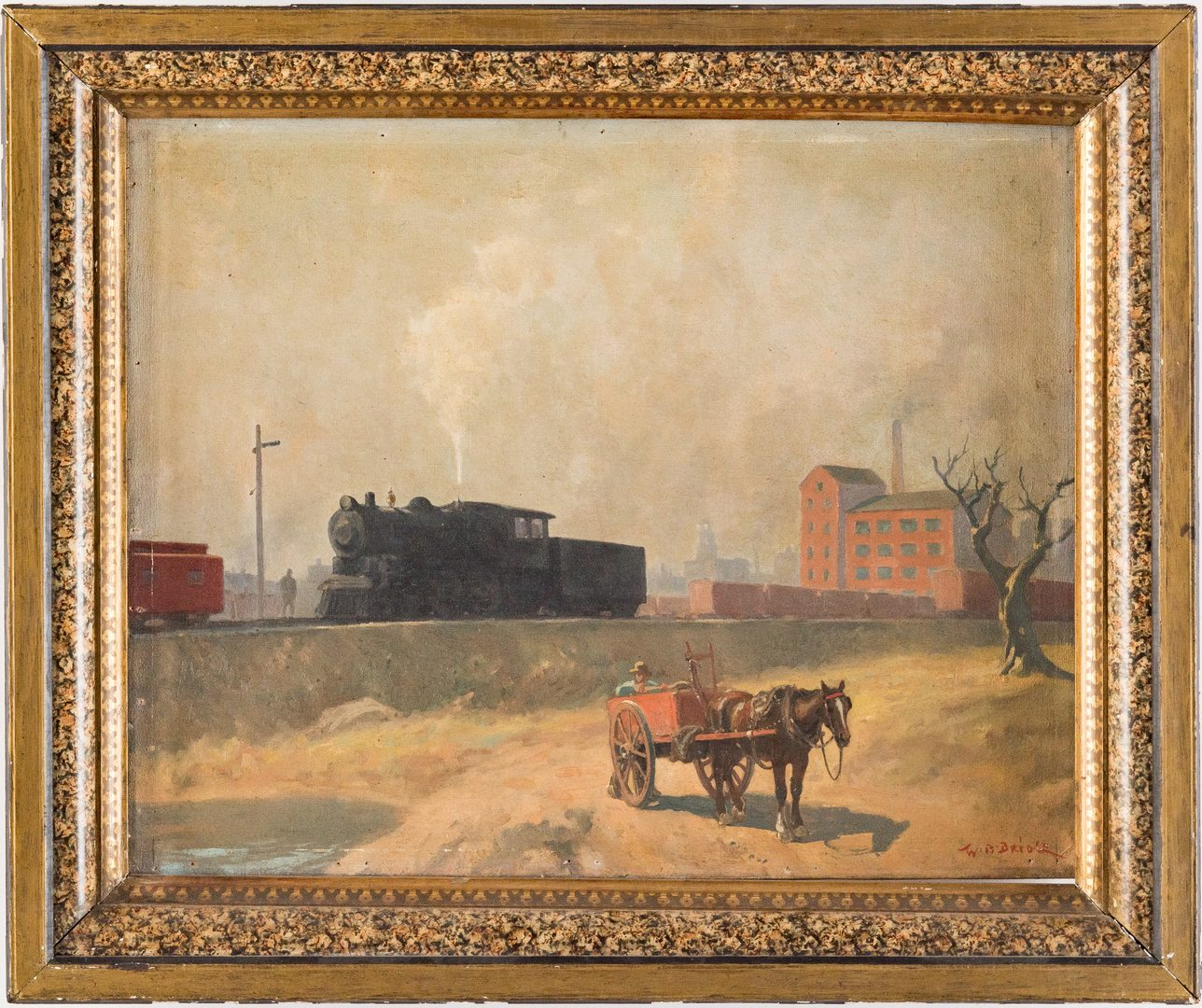 Lot 668: 3 W. B. Bridge O/C Paintings