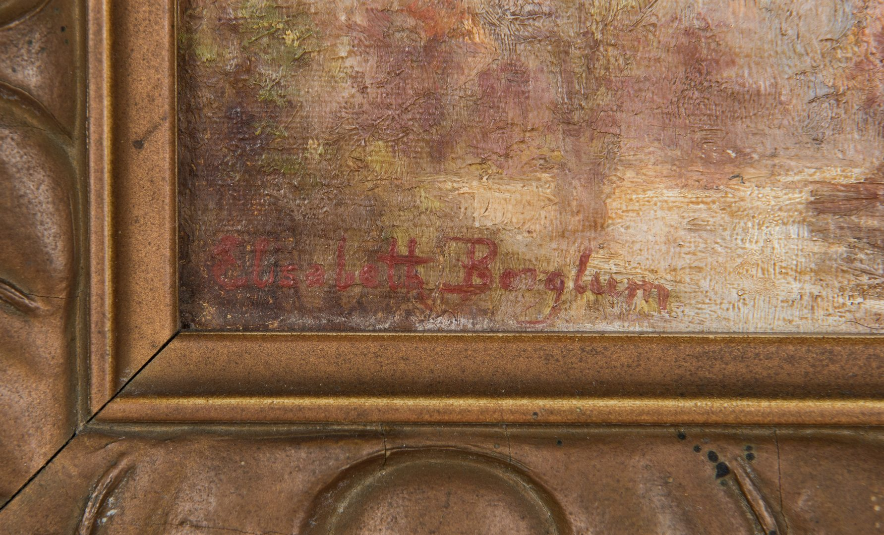 Lot 673: Elizabeth Borglum Small Oil Painting