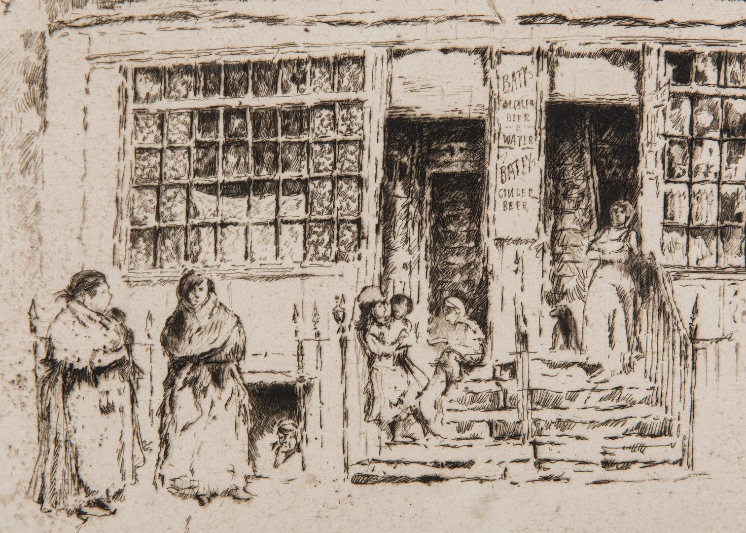 Lot 676: 3 Etchings, incl. Joseph Pennell, Felician Rops
