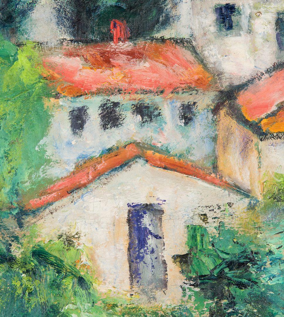 Lot 678: Maltby Sykes O/B, Mediterranean Village Scene