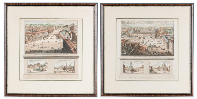 Lot 687: Engraved Views of Rome incl. Quirinal Palace
