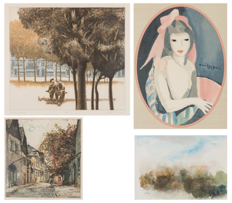 Lot 694: 4 Colored Prints incl. Kasimir, Sexauer, Graff