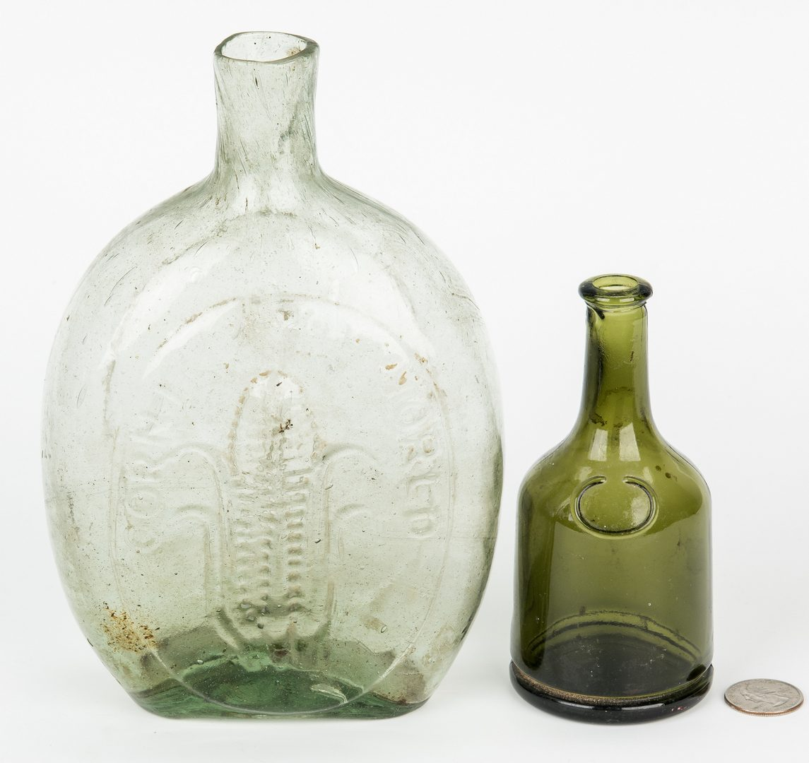 Lot 695: 2 Banks, 1 Historical Flask & 1 Bottle