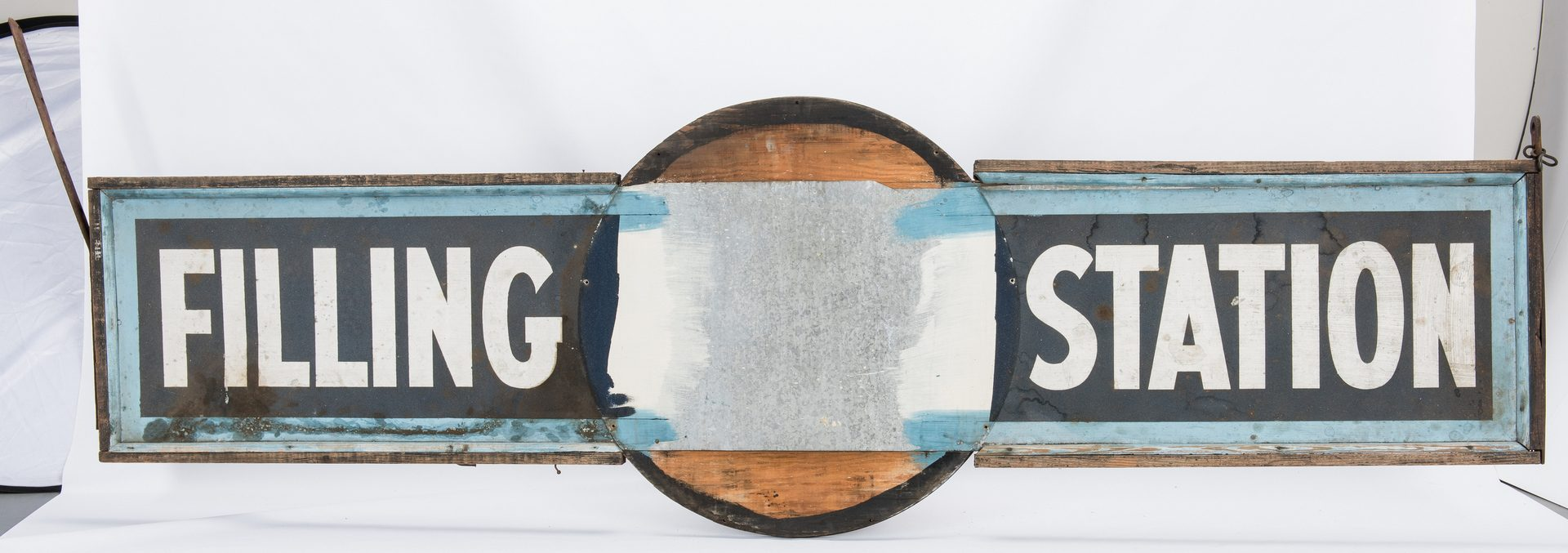Lot 699: Stanocola Standard Oil Company Enameled Sign w/ Painted Wood Sign