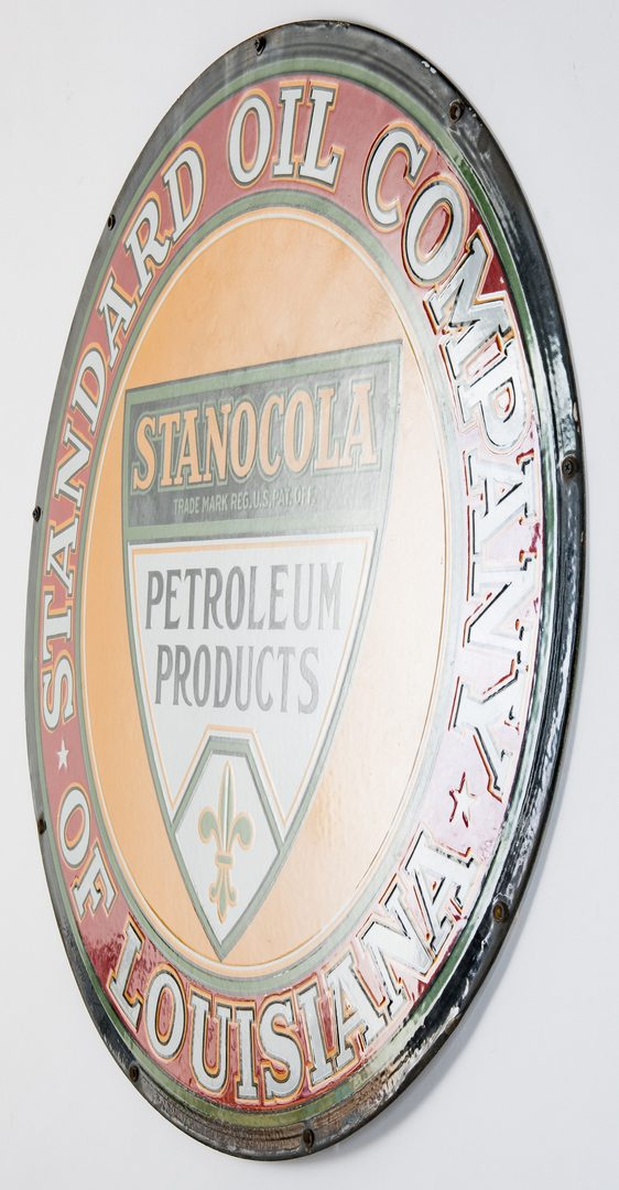 Lot 700: Stanocola Standard Oil Company Enameled Advertising Sign