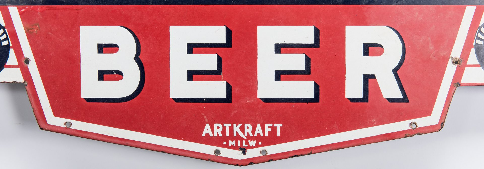 Lot 702: Blatz Beer Enameled Advertising Sign