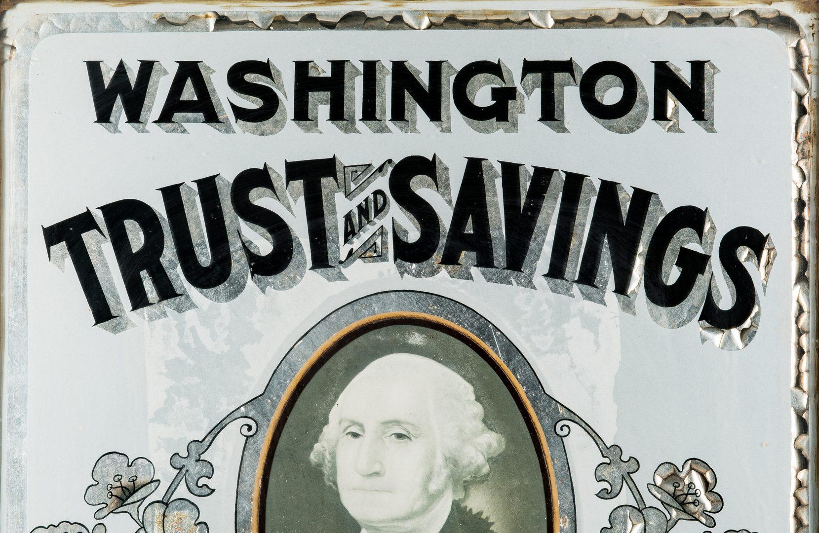 Lot 704: Washington Trust & Savings Advertising Sign