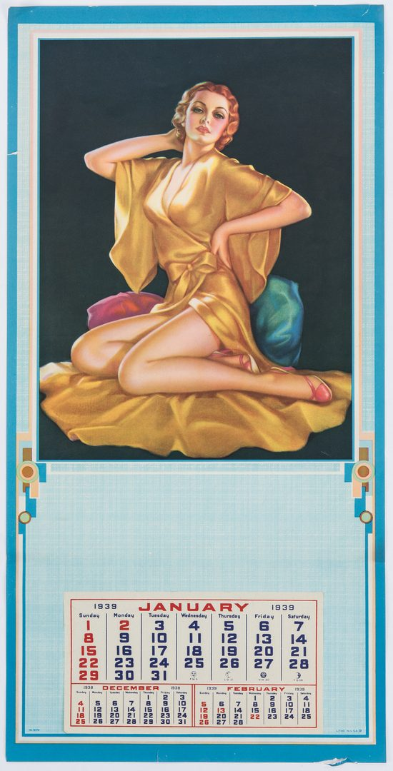 Lot 706: 15 Mid Century Pinup Calendars & Posters