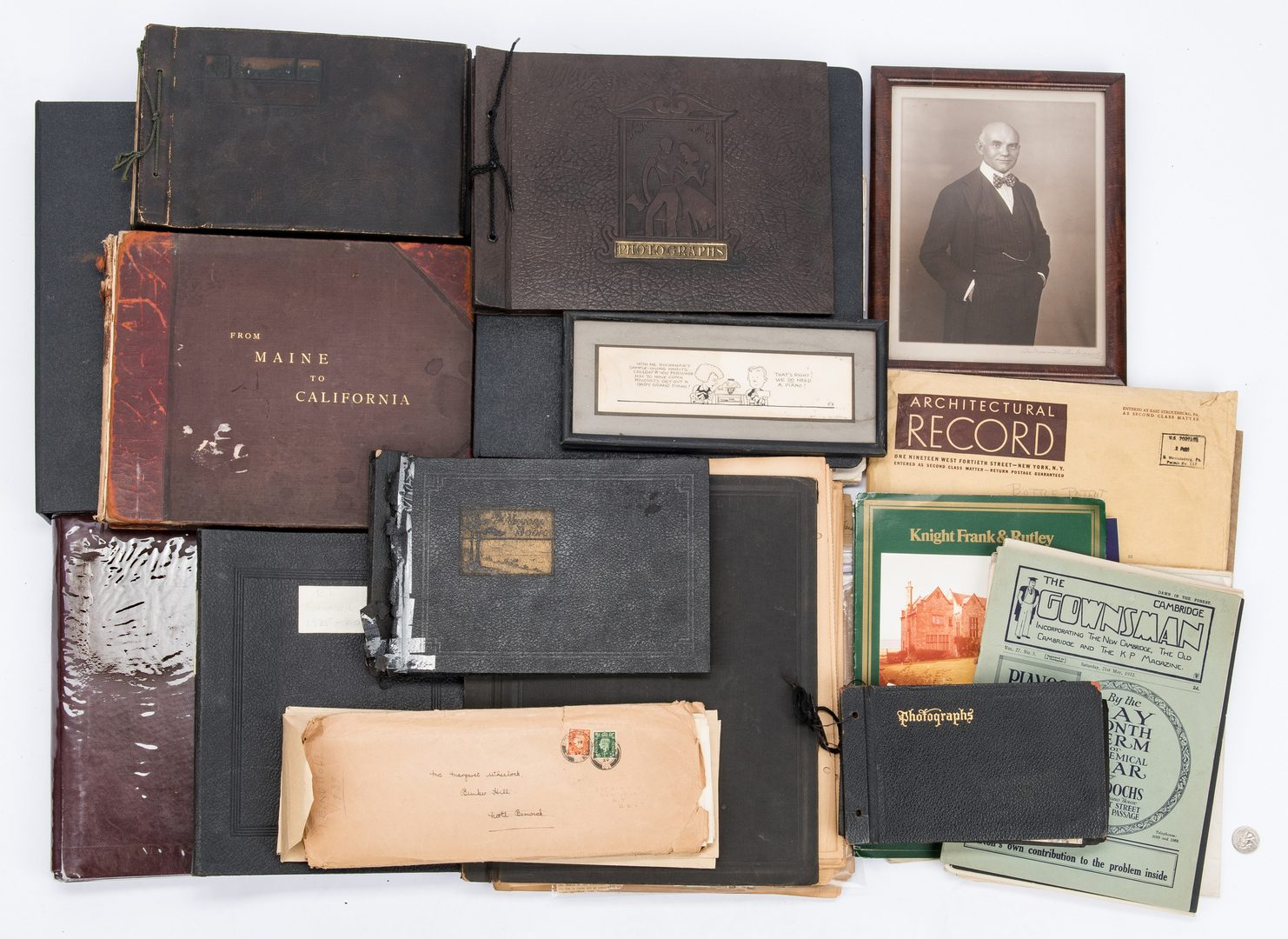 Lot 710: Buchanan-Wheelock Archive incl. FDR signed letter, mining, Titanic interest