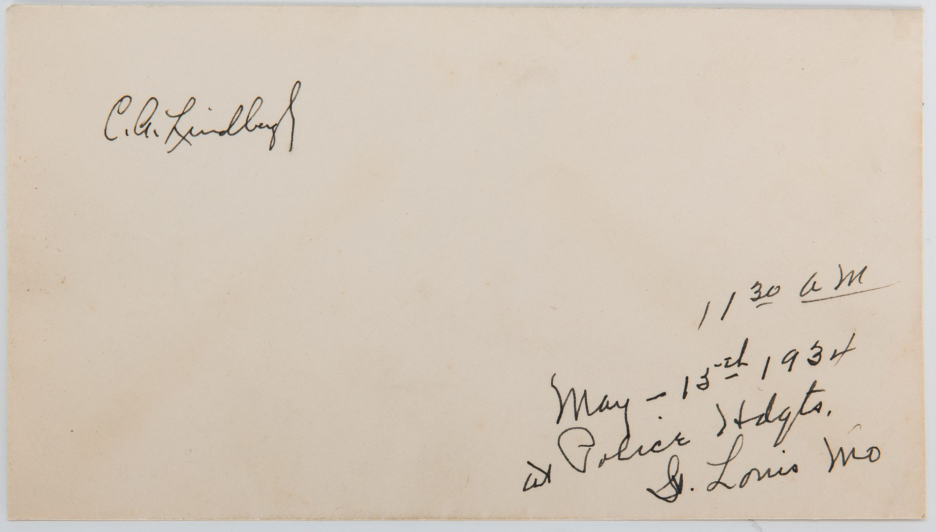 Lot 711: 2 Aviator Signed items, incl. Lindbergh, Earhart