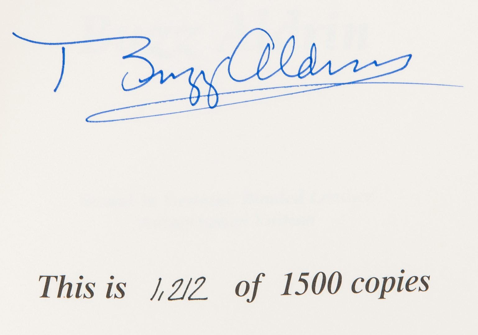 Lot 714: 6 Buzz Aldrin Signed Items, incl. Photo & Books