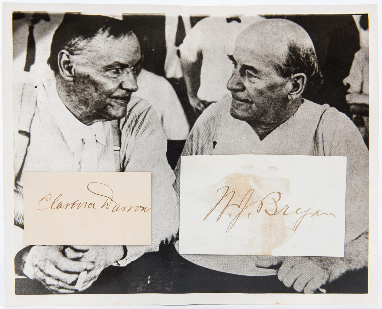 Lot 715: Scopes Monkey Trial Cut Signatures, Photo