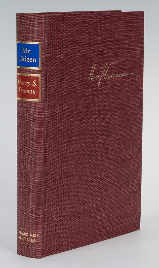 Lot 717: Harry Truman Signed Book, Mr. Citizen