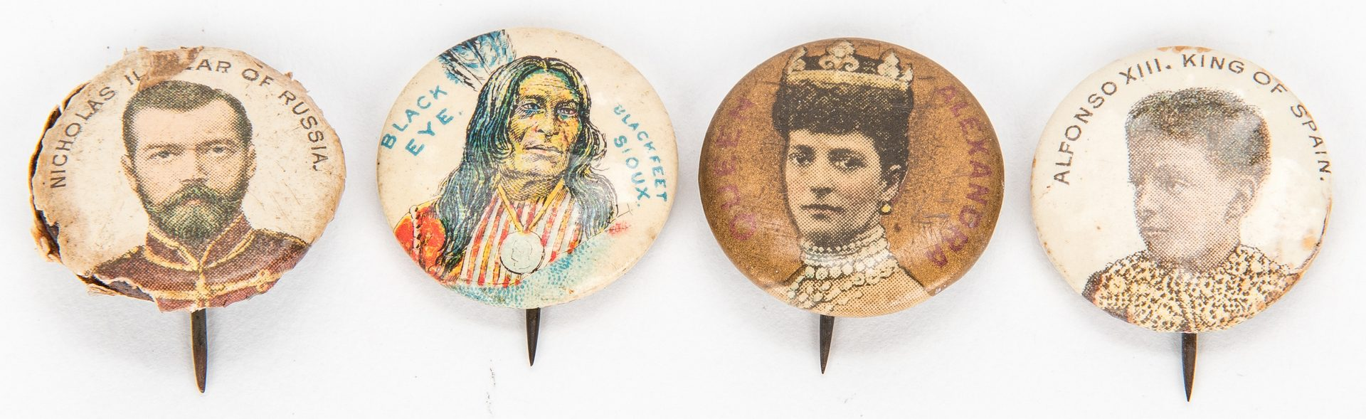 Lot 720: 86 Early Pinback Buttons, Incl. Rare Speares Auto Oils, Union, Strike & Local Political Buttons