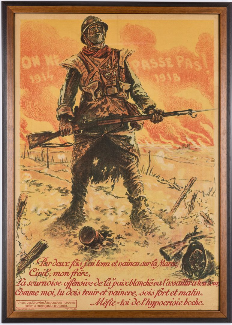 Lot 721: 3 French World War I Propaganda Posters
