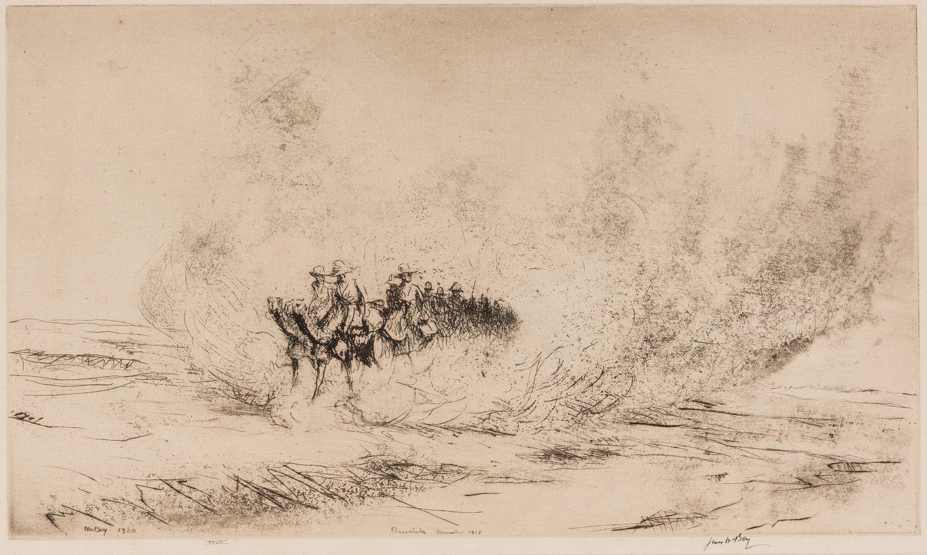 Lot 723: 2 World War I Works on Paper, incl. James McBey, Kerr Eby