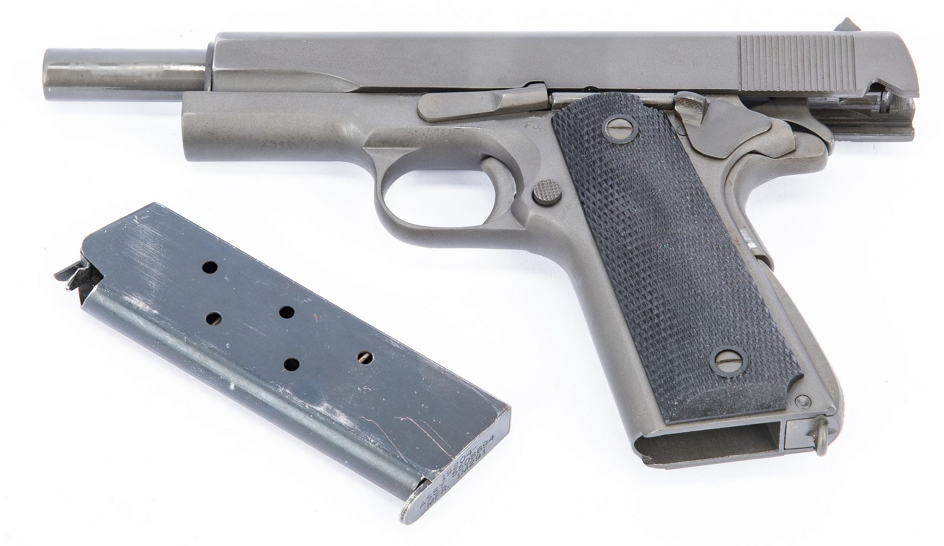 Lot 727: WWII Model 1911 Ithaca US AI SA Pistol, .45 Cal