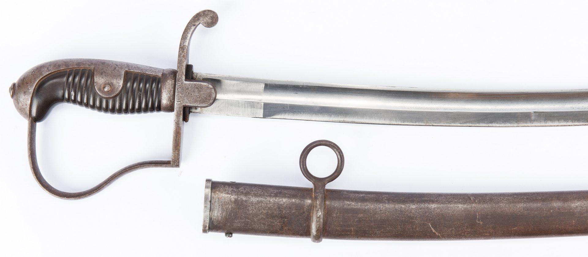 Lot 728: 3 Military Items, Sword/Bayonet/Belt