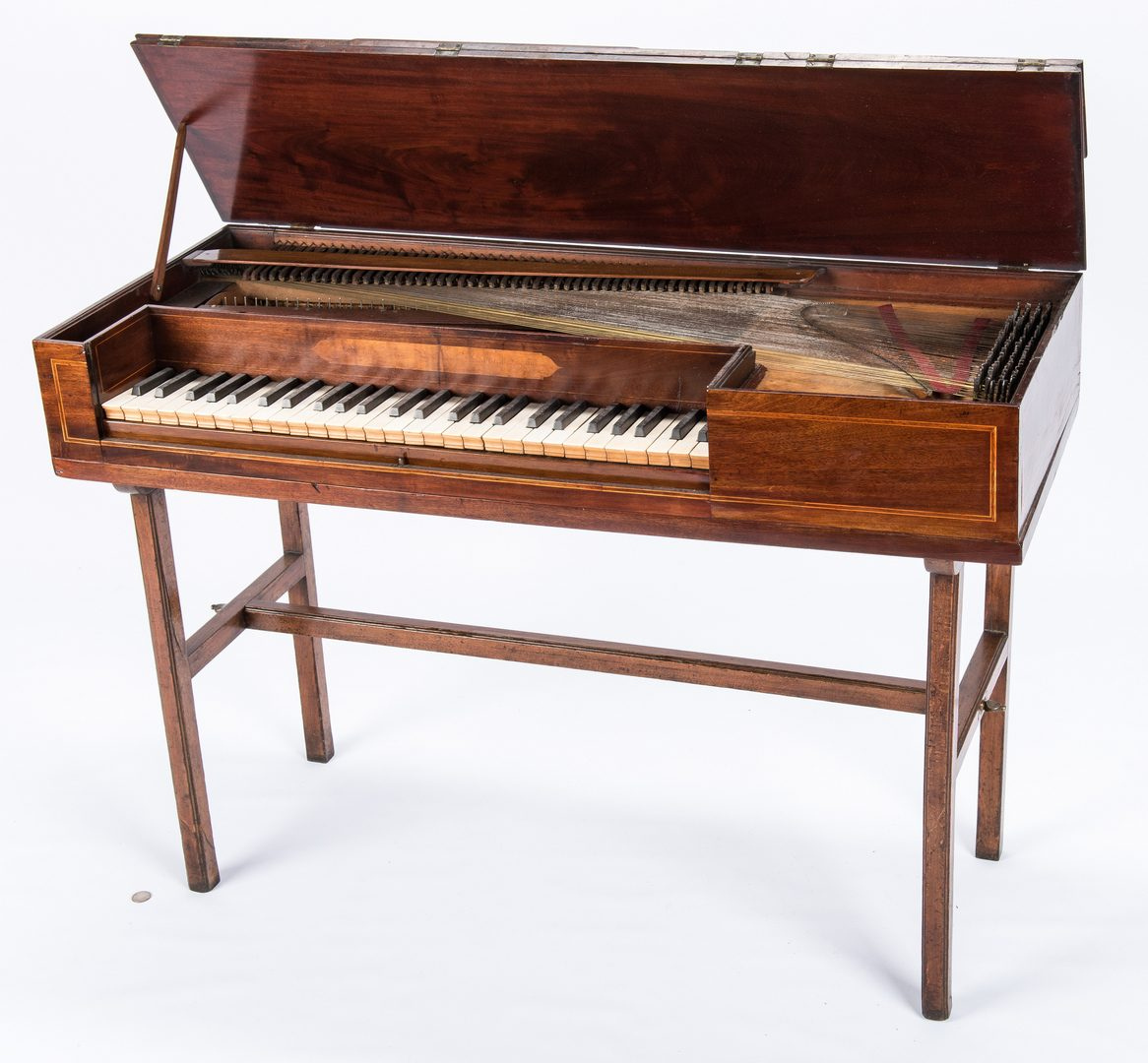Lot 733: Scottish Inlaid Pianoforte on Stand & German Violin