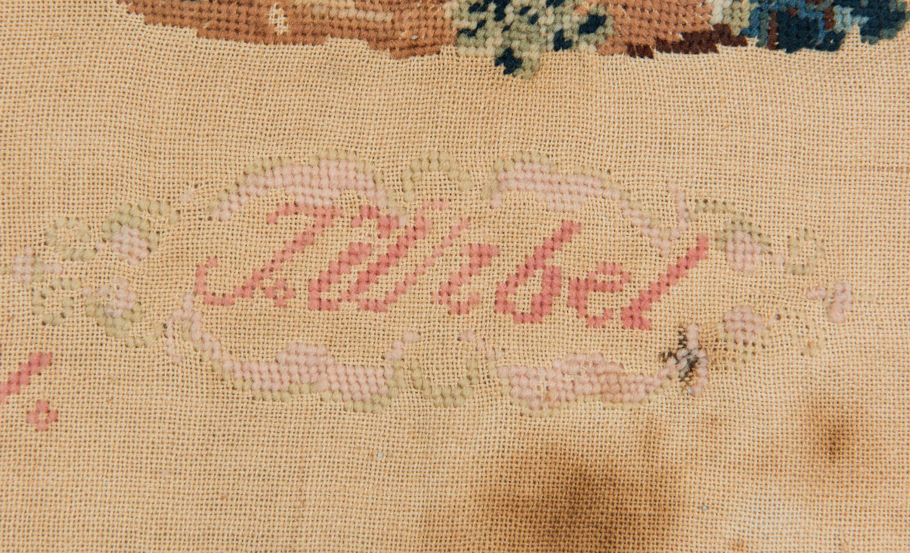 Lot 737: 3 Needlework samplers