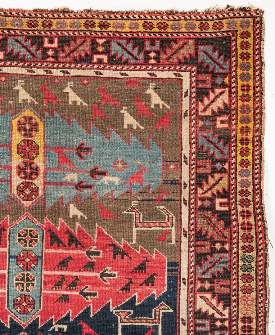 "Lot 742: Caucasus Rug, Animal Motifs, 57"" x 45"""