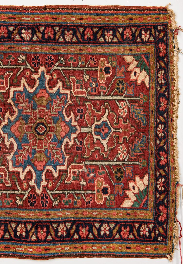 Lot 743: Bidjar Area Rug & 2 Turkish Saddle Bags