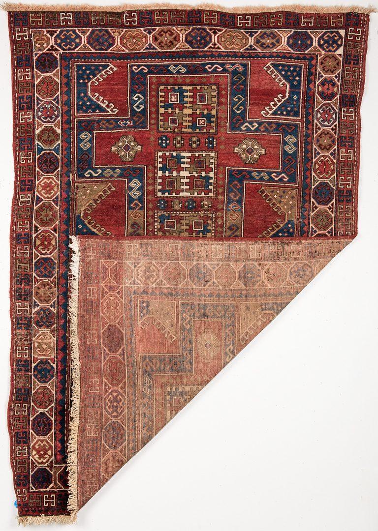 """Lot 744: Antique Caucasian Kazak Rug, 7' x 4'8"""""""