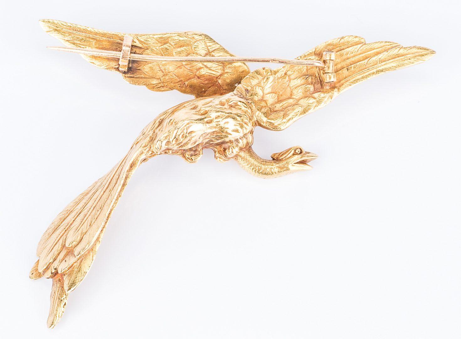 Lot 756: 14K Flying Phoenix Pin