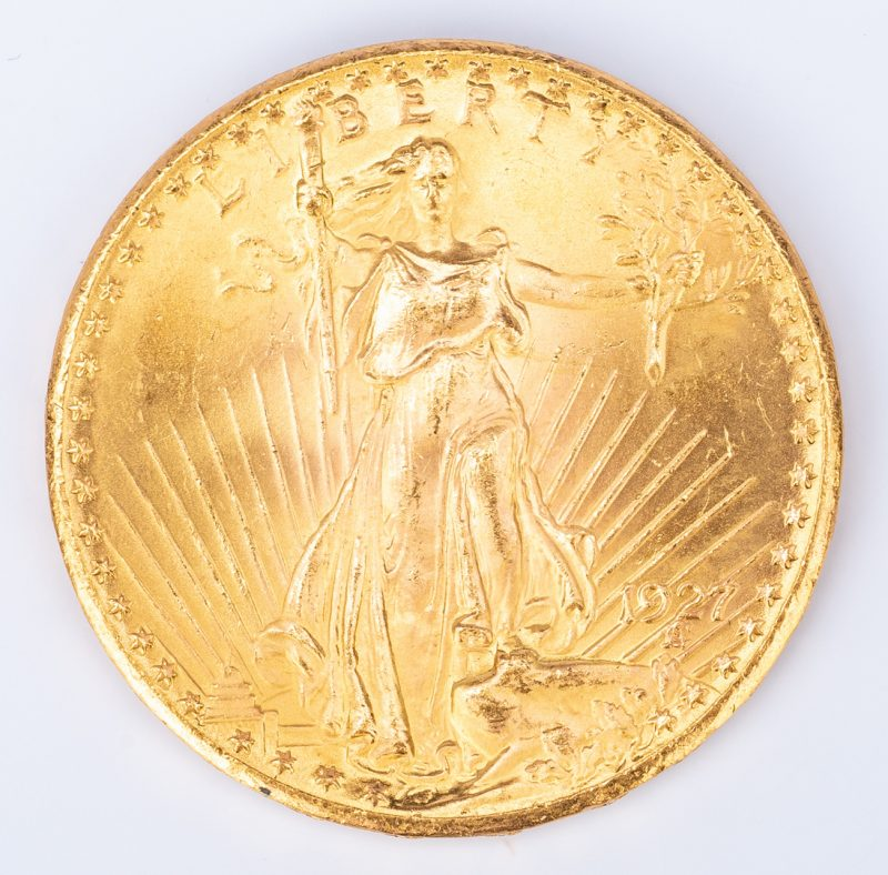 Lot 759: 1927 $20 Saint-Gaudens Gold Coin