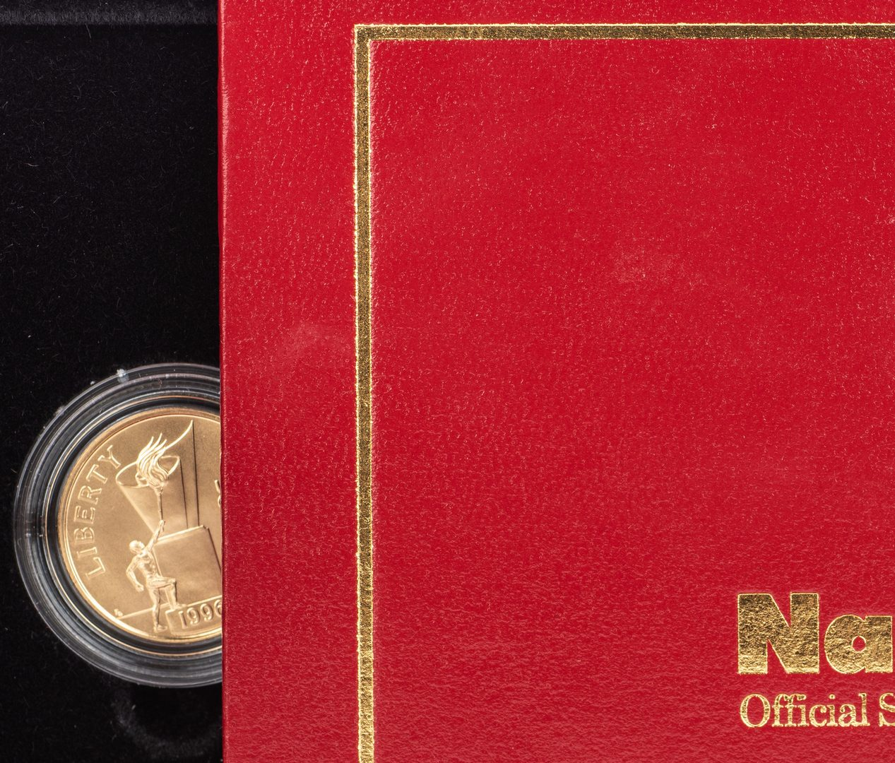 Lot 761: 4 Boxed 1996 Olympic $5 Gold Coins