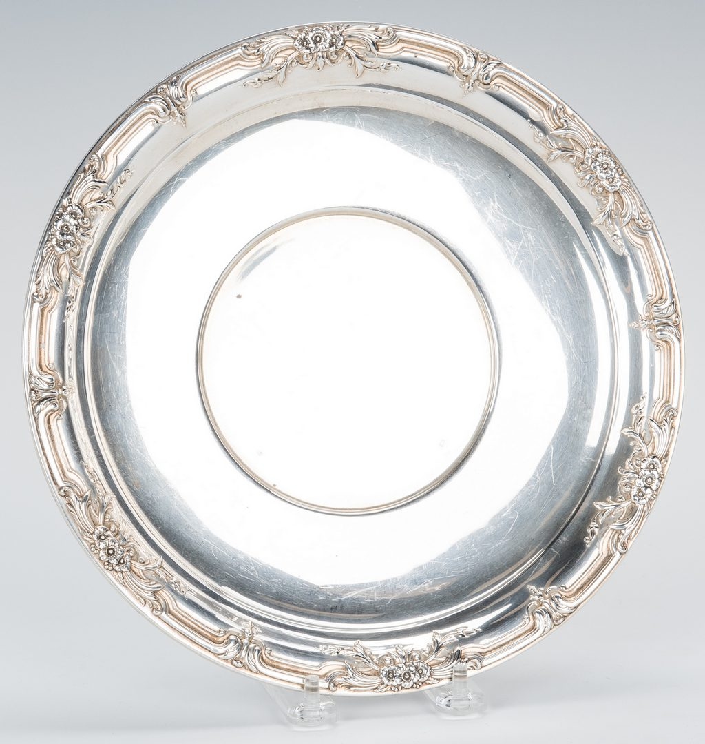 Lot 762: 7 Sterling Silver Holloware Serving Items