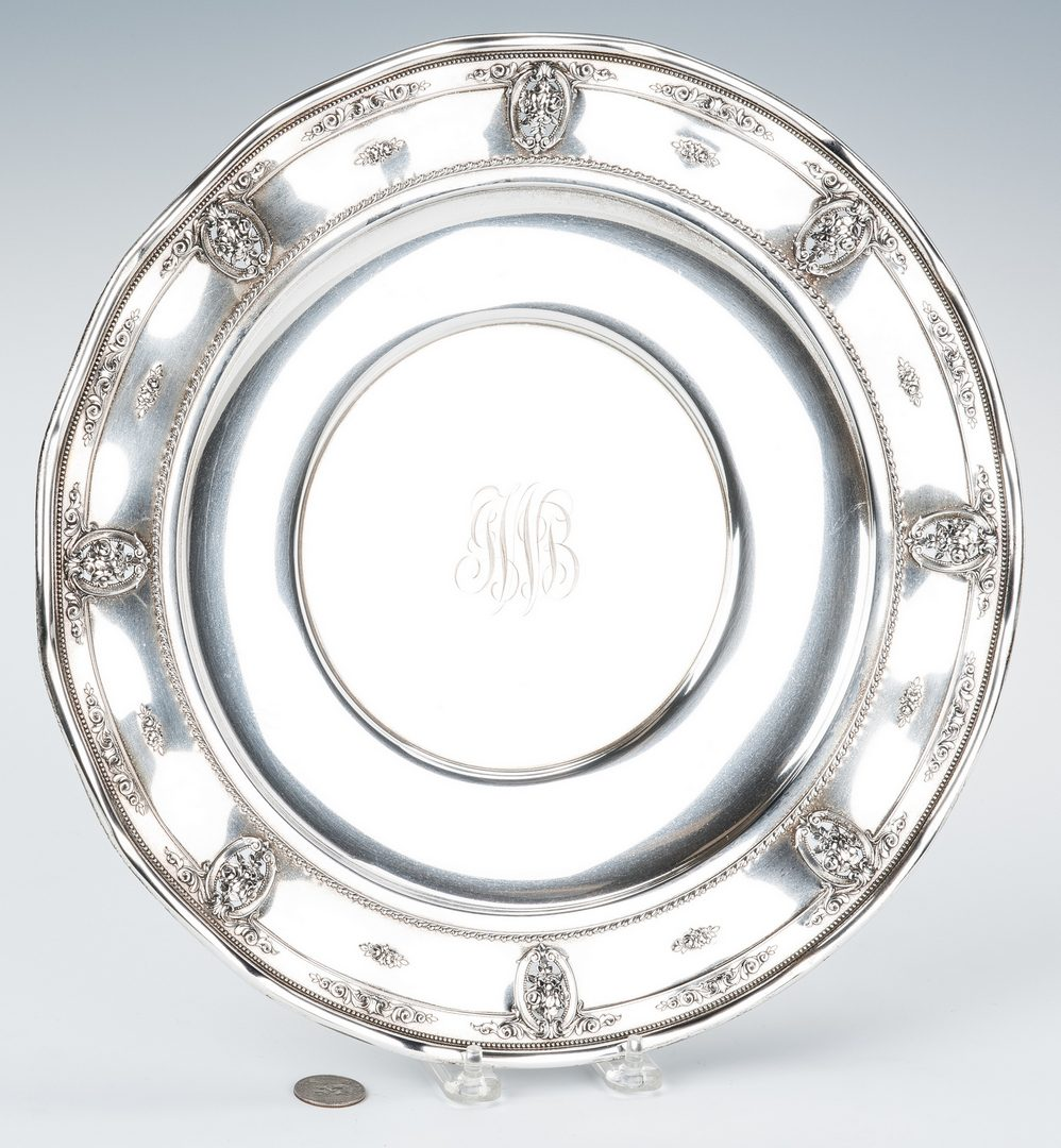 Lot 764: Wallace Sterling Tray, Rose Point Pattern