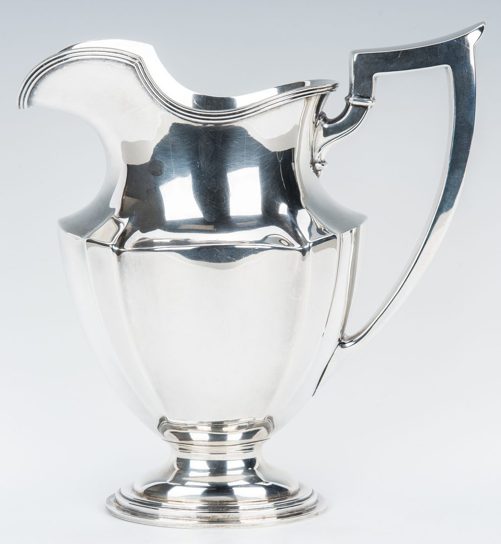 Lot 765: Gorham Plymouth Sterling Silver Water Pitcher