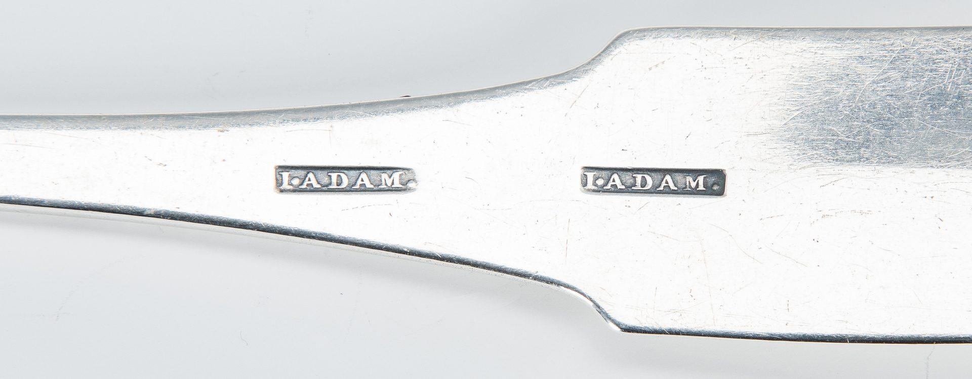 Lot 76: Virginia coin silver ladle, John Adam