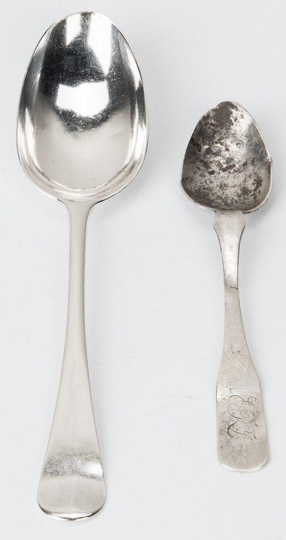 Lot 78: 2 Coin Silver Spoons, incl. J. Vogler
