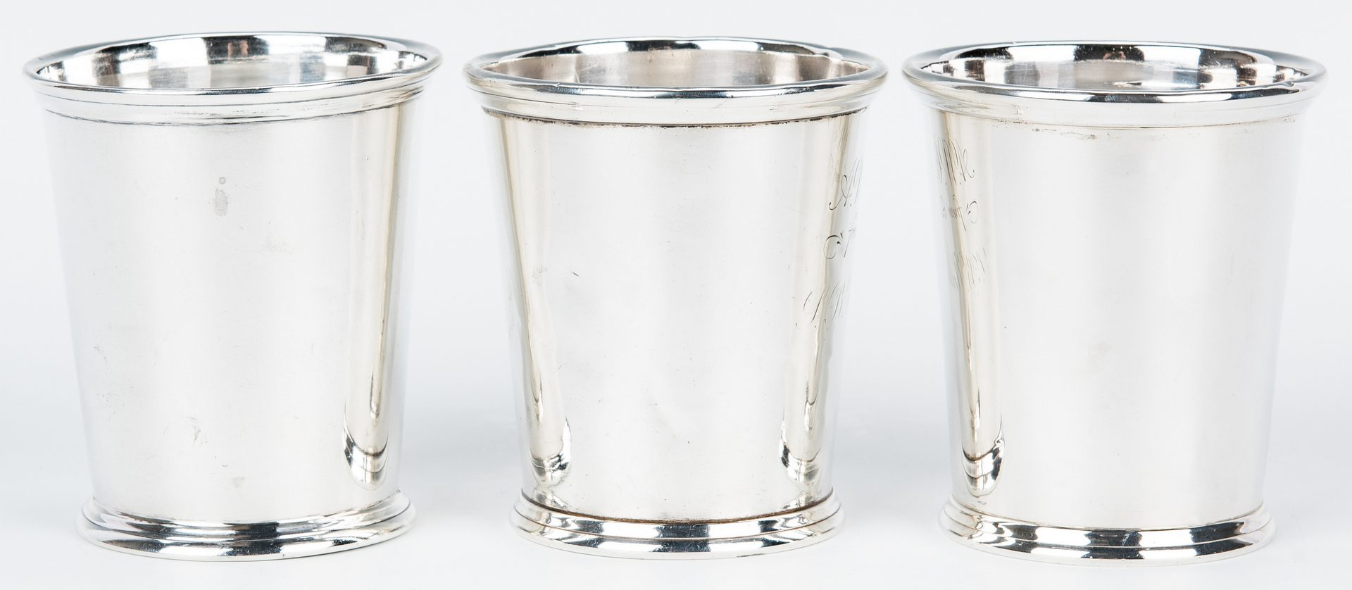 Lot 79: 3 Kentucky retailed Julep Cups inc. Akin