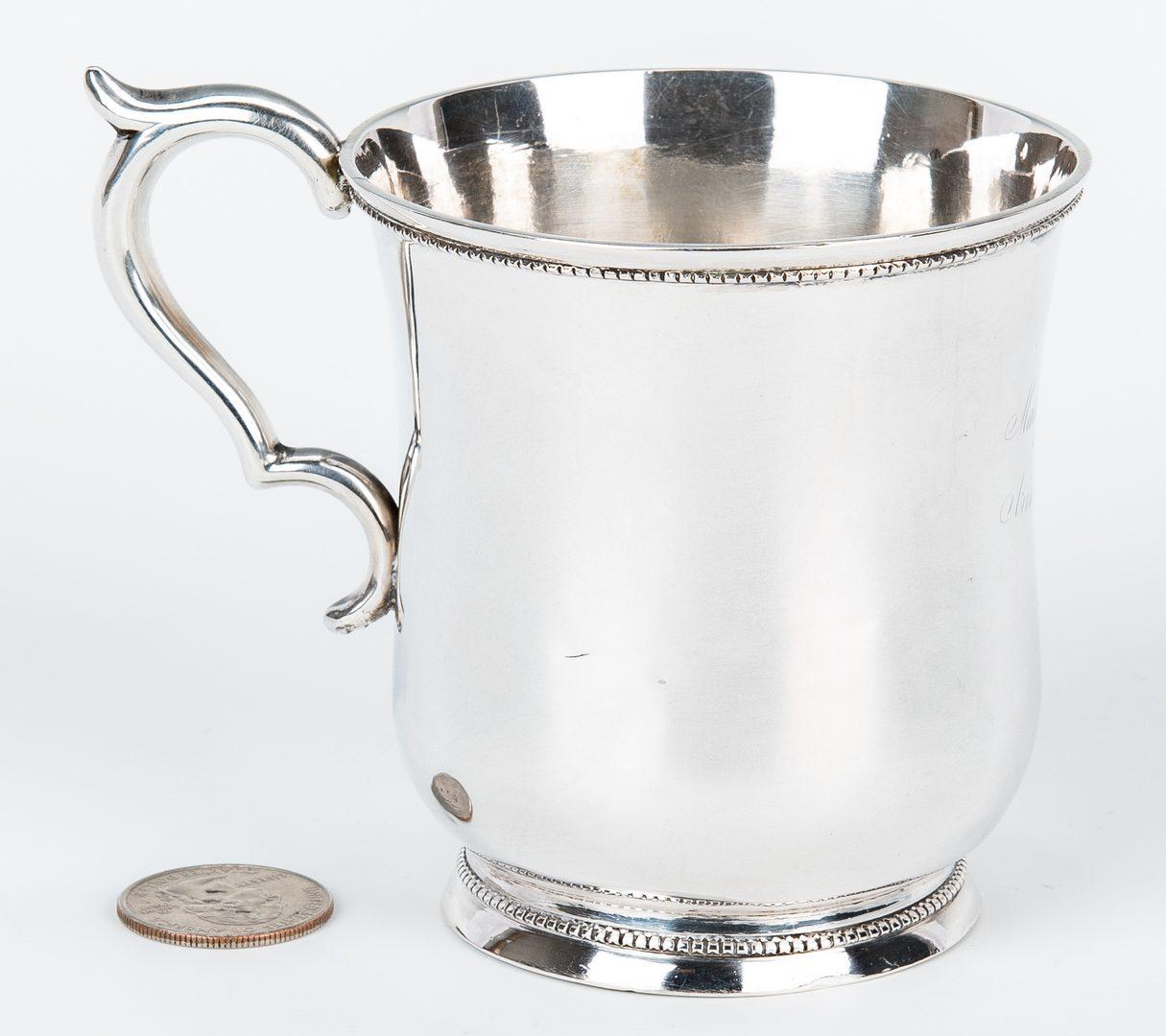 Lot 82: Hyde & Goodrich New Orleans Coin Silver Mug