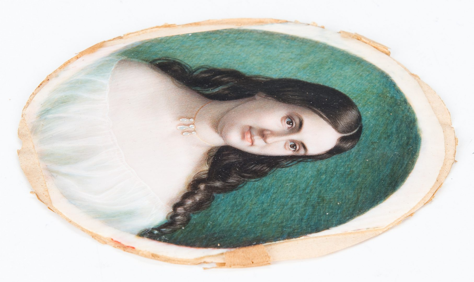 Lot 92: Pair NY miniature portraits, attr. Wagner Siblings