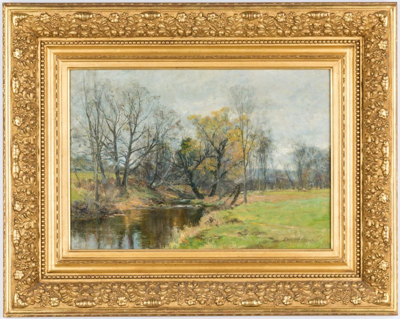 Lot 96: Olive P. Black Oil on Canvas Landscape
