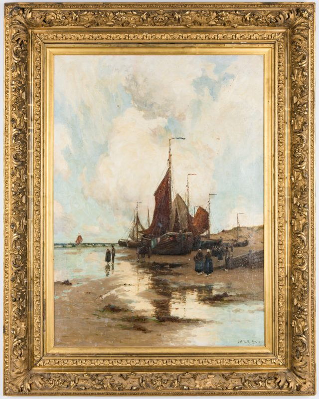 Lot 97: John Noble Barlow Coastal Landscape Oil on Canvas