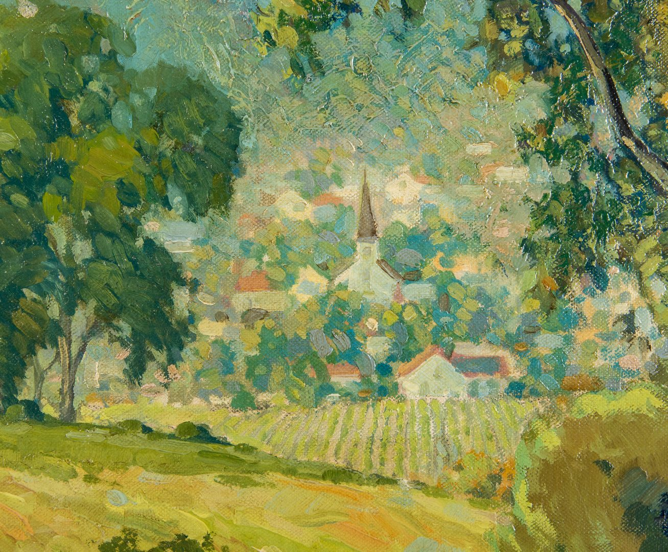 Lot 98: E.T. Grigware, O/C Landscape with Village