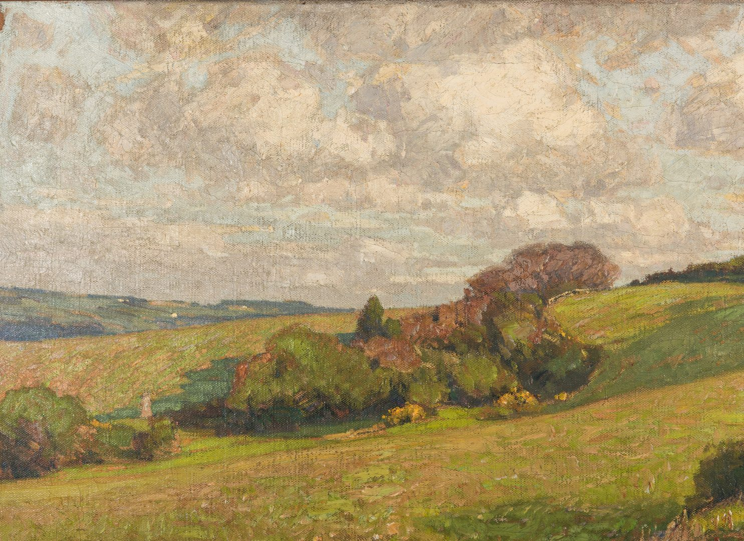 Lot 99: William Wendt O/C Landscape, Exhibited