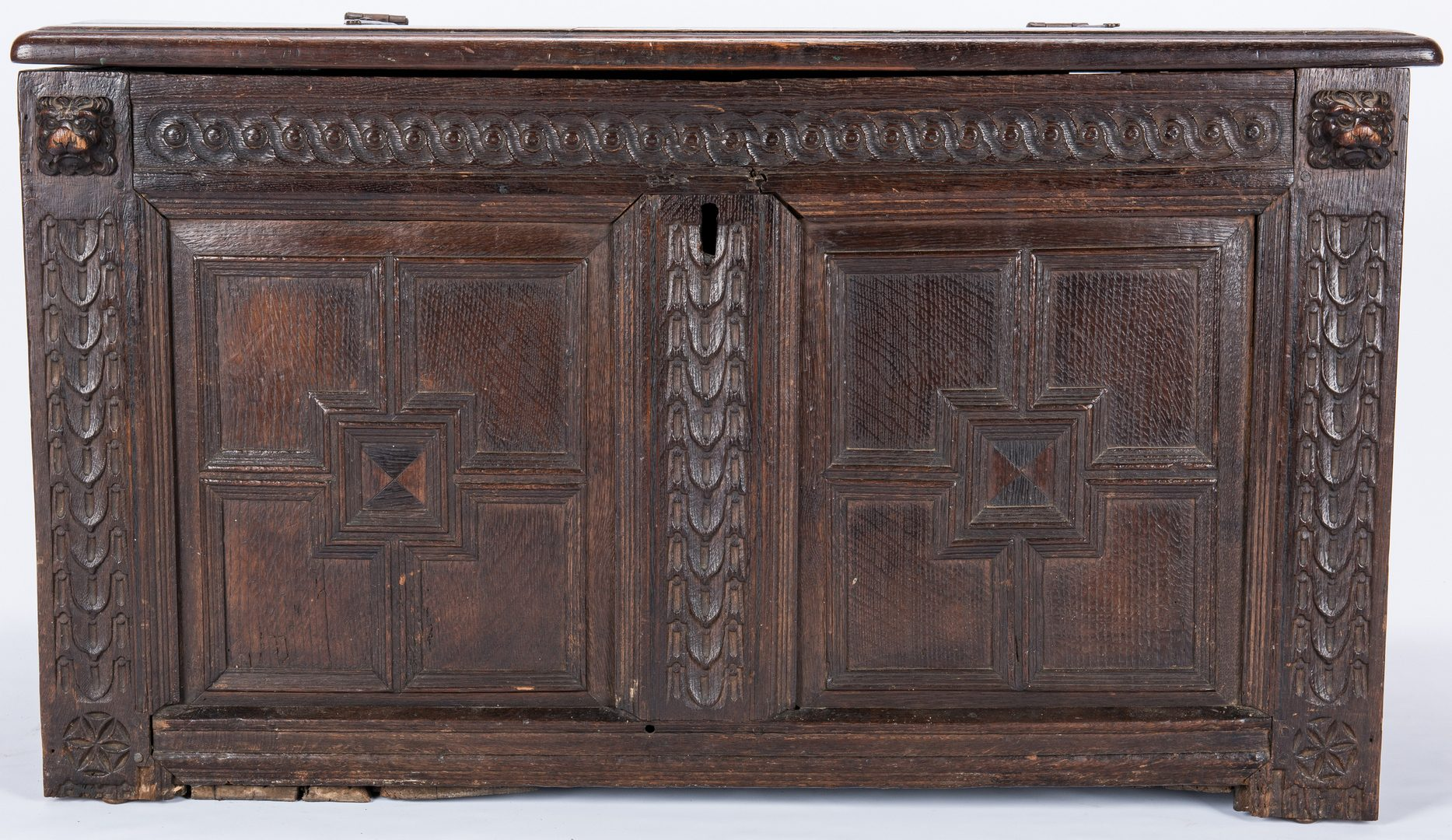 Lot 102: Small Jacobean Coffer or Blanket Chest