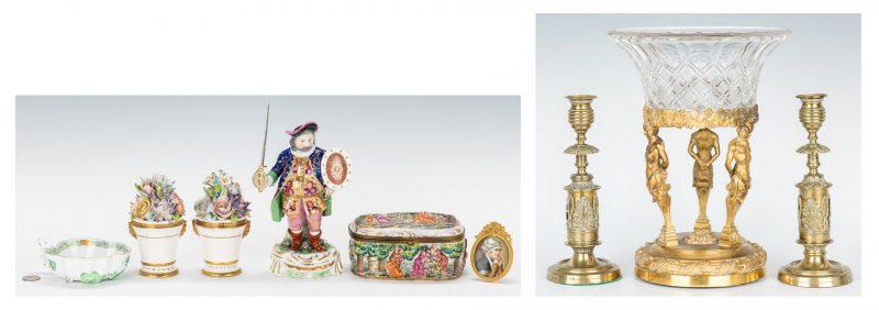 Lot 105: 9 European Decorative Accessories inc. Satyr Compo