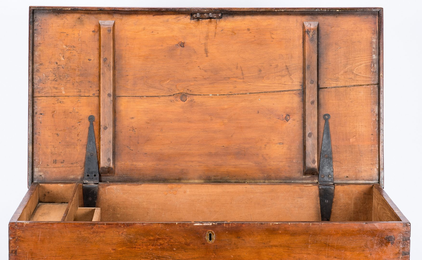 Lot 110: New England or Mid-Atlantic Pine Dower Chest