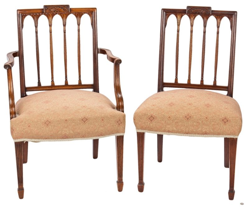 Lot 111: 2 American Federal Square-Back Chairs