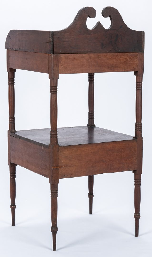 Lot 115: Dimunitive Southern Washstand w/ Scrolled Back